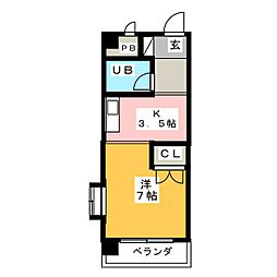 メゾン八幡[1階]の間取り
