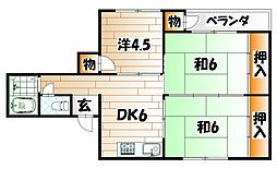 AC井堀[4階]の間取り