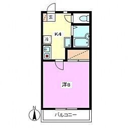 東京都世田谷区桜丘4丁目の賃貸アパートの間取り