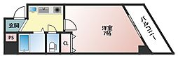 アヴェニール寺田町[4階]の間取り