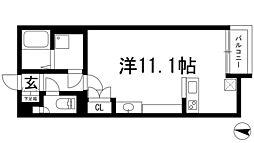 兵庫県川西市新田2の賃貸アパートの間取り