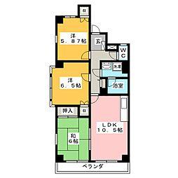 エクセル薮田 S棟[2階]の間取り
