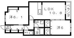 メゾンフェリース[2階]の間取り