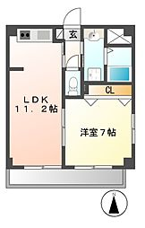 愛知県名古屋市中村区千成通3の賃貸マンションの間取り