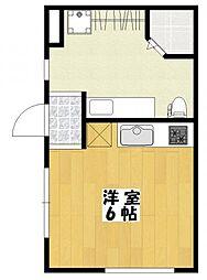 高石神アパートメント[1階]の間取り