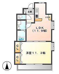 プロビデンス葵タワー[2階]の間取り