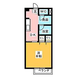シューフルールVII[2階]の間取り