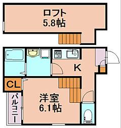 クラウド9-II[1階]の間取り