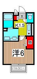埼玉県さいたま市桜区栄和1の賃貸アパートの間取り