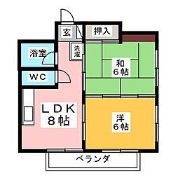 レジデンスK[3階]の間取り