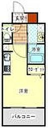 LANDIC H1916 12階1Kの間取り