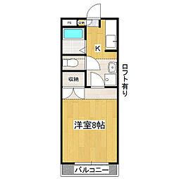 茨城県つくば市二の宮3丁目の賃貸マンションの間取り