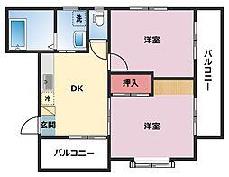 シャンス東寺尾中台23[202号室]の間取り