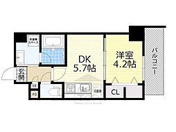 JR東海道・山陽本線 吹田駅 徒歩3分の賃貸マンション 10階1DKの間取り