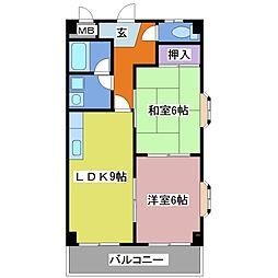 兵庫県明石市西明石北町3丁目の賃貸マンションの間取り