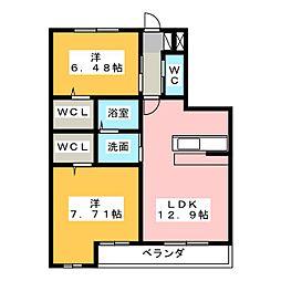 SEASON COURT 乙輪[3階]の間取り