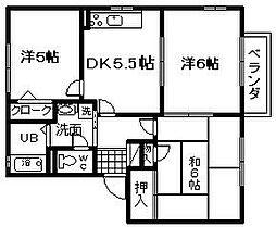 グランメール21E棟[101号室]の間取り