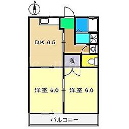 コンフォートクボカワ[2階]の間取り