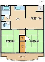 車谷住宅[2階]の間取り