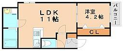リテラMy箱崎[3階]の間取り