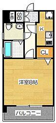 ピュアドームグレース博多[5階]の間取り