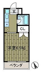 東京都町田市森野1丁目の賃貸マンションの間取り