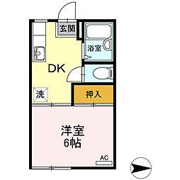 コーポDAIGAKU[102号室]の間取り