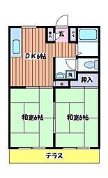 OKハイツ[1階]の間取り