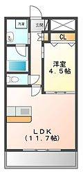 プレメント豊中[8階]の間取り