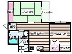 マンション吉岡[2階]の間取り