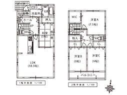 建売プラン.デザイナーのこだわりの詰まった収納豊富な住宅になります。3860万円(土地,建物,外構,消費税)での販売です。また注文住宅でも建築頂けます。詳しい情報は是非お問合せ下さい