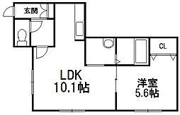 北海道札幌市豊平区美園九条1丁目の賃貸マンションの間取り