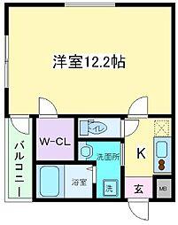 大阪府大阪市住吉区苅田5丁目の賃貸アパートの間取り