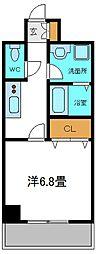 京阪本線 守口市駅 徒歩5分の賃貸マンション 4階1Kの間取り