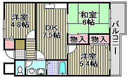 ソシア加茂[305号室]の間取り
