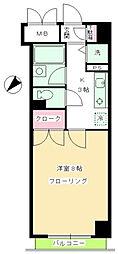 東京都目黒区目黒本町2丁目の賃貸マンションの間取り