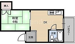 ハイム蘭[5階]の間取り