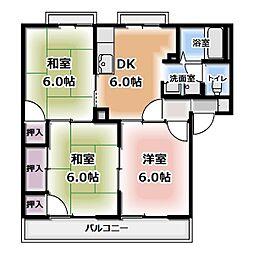 サンクレスト昭和 B棟[2階]の間取り