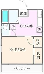 東京都豊島区池袋本町1丁目の賃貸アパートの間取り