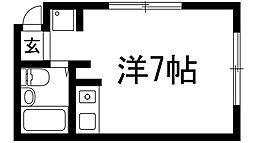 兵庫県川西市小花2丁目の賃貸マンションの間取り