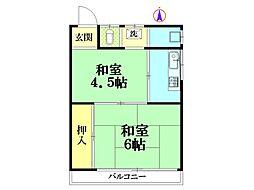 第2関根アパート[3号室]の間取り