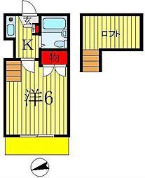 フジパレス八柱[2階]の間取り