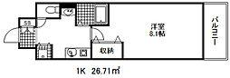 カスタリア三宮[7階]の間取り