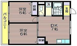 荒井第一マンション[313号室]の間取り