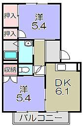 ファミールK[2階]の間取り