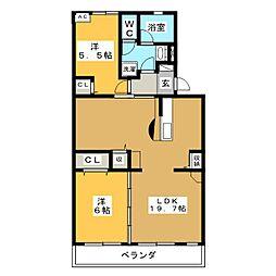 グリーンマンションATAGO[4階]の間取り
