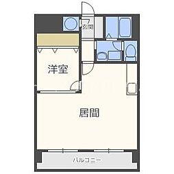 ライオンズマンション北5条[9階]の間取り