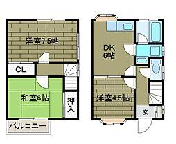 [テラスハウス] 東京都町田市玉川学園4丁目 の賃貸【/】の間取り