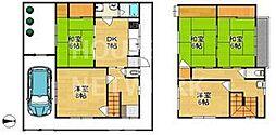 [一戸建] 京都府京都市北区小山元町 の賃貸【/】の間取り