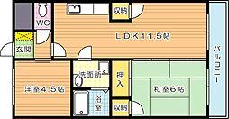 島村ビル[4階]の間取り